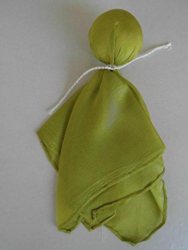 Seidenpüppchen Träumerle, Farbe grün, Köpfchen mit Biowolle gefüllt