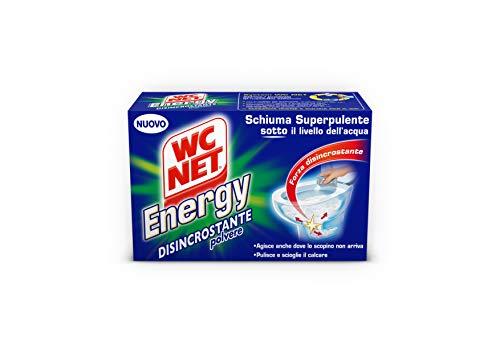 WC Net–Espuma superpulente, Energy, Desincrustante polvo–240g 4sobres