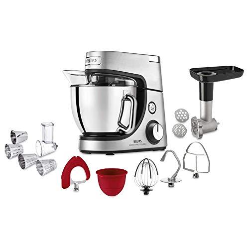 KRUPS Master Perfect Gourmet Robot de cocina, 1100 W, 4.6 litros, acero cepillado, plata