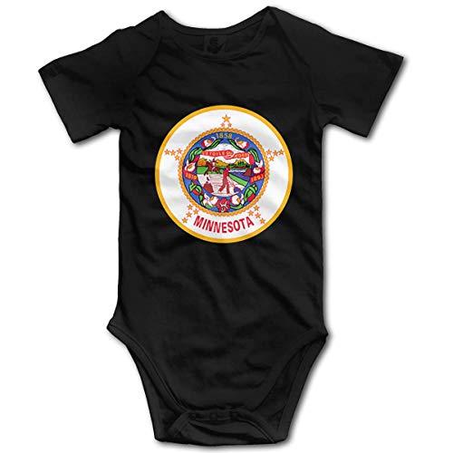 Promini Body de manga corta de algodón para bebé, de la bandera de Minnesota, de 9 a 12 meses, ZI9257