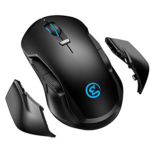Mouse Gaming RGB Personalizzabile, GameSir GM300 Mouse da Gioco Senza Fili, Wireless Gaming Mouse 2.4GHz Mouse 16000 DPI 5 Livelli Regolabili per PC Notebook Laptop Computer Casa Ufficio