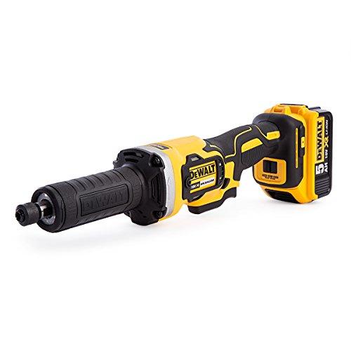 DEWALT DCG426P2-GB XR Brushless Die Grinder, 18 V, Yellow/Black, 125 mm