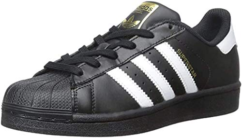 adidas Originals Junior's Superstar Sneaker, Core Black/White/Core Black, 4.5