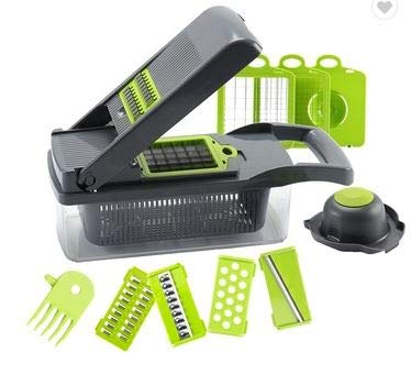 Multi-functional blades Vegetable and Onion Chopper, Mandolin Slicer and...