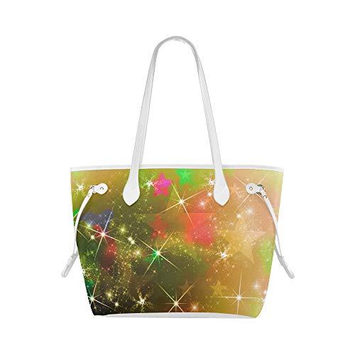 Mädchenhandtasche Stern Weihnachtsbild Rote Adventslichter Tragen Umhängetasche Reisehandtasche Große Kapazität Wasserdicht Mit Haltbarem Griff