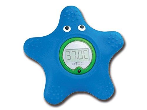 Gima - Termometro da Bagno, °C, Forma Stella Marina, Range di Temperatura da 0 a 70°C, Fornito di Blister Appendibile, Preciso e Sicuro per Bambini.