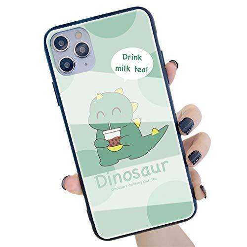 Hadwii - Carcasa para iPhone 11 Pro de silicona flexible con protección para cámara de fotos, diseño de dinosaurio