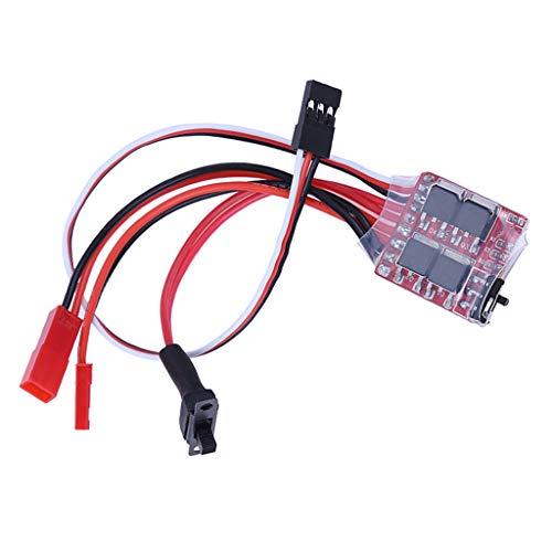 non_brand Regolatore di velocità del Motore con Spazzole Bidirezionale RC ESC 20A per Accessori