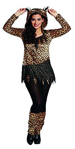 Rubies 13808-44 Leopard Wild Depredador Camisa Leopardo Disfraz de Animal para Mujer, Multicolor