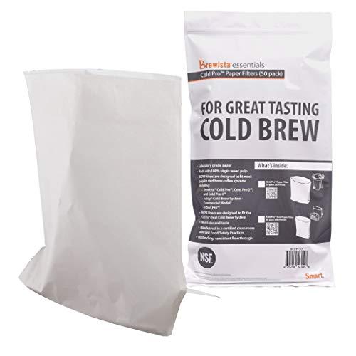 Brewista Cold Pro Original Paper Filter Filter-50 Pack (BCPPF50), Commercial