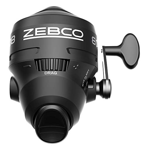 Zebco 808 Spincast Fishing Reel, Powerful All Metal Gears, Quickset Anti-Reverse and Bite Alert, Pre-spooled with 20-Pound Zebco Fishing Line, Clam Pack, Black