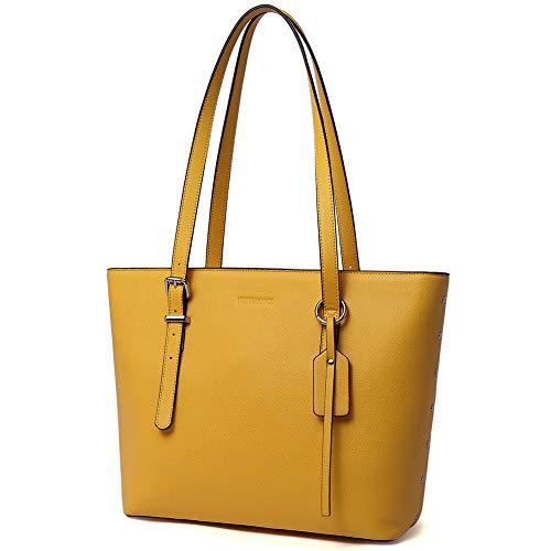 WESTBRONCO Women Leather Handbags Purses Designer Tote Shoulder Bag Top Handle Bag for Daily Work...