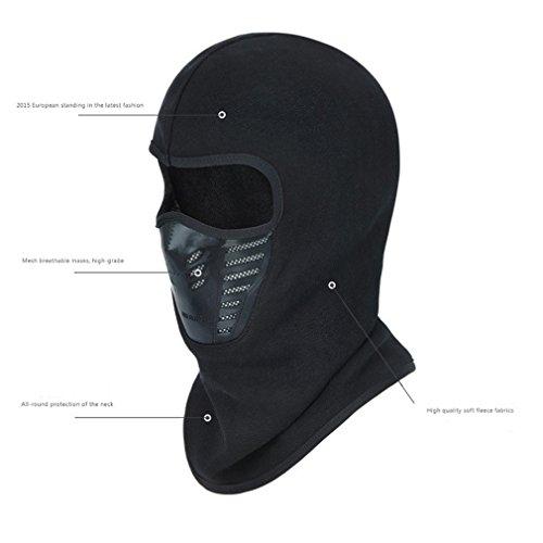 LnLyin Herbst und Winter Maskenhüte Freien Männer und Frauen Unisex Maskenhüte Reitet Schnee Verdickte Maskenhüte Multi Warme Vlies Pulloverkappen