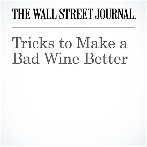 Tricks to Make a Bad Wine Better copertina