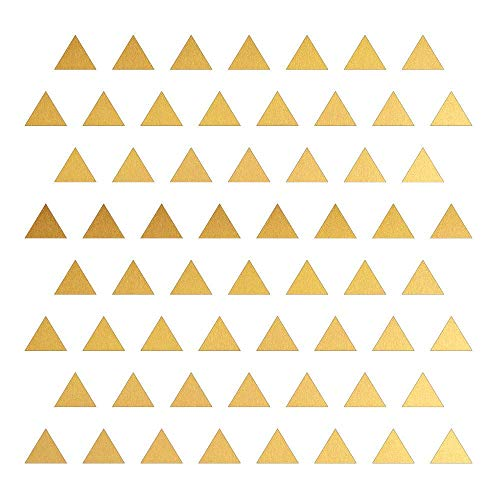 Triangle Wall Stickers Vinyl Decal (Gold 3