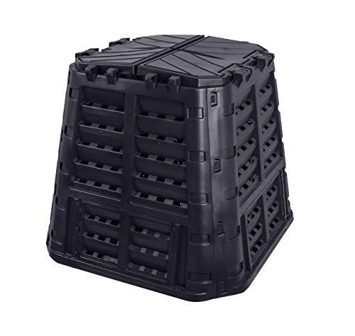 Komposter 480L aus Kunststoff, Schnellkomposter mit Belüftungssystem, modular steckbar, für ideale Zersetzung