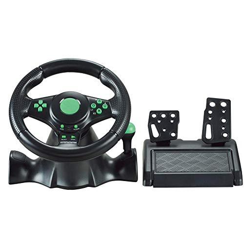 DDZKA Volant de Jeu Volant multiformat Force Feedback Racing Wheel Volant de Montage Contrôleur
