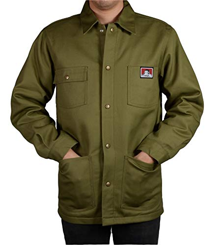Ben Davis Men's Original Style Jacket, with Front Snap (Army Green, X-Large)