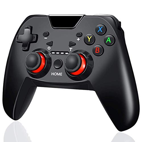 SNOWINSPRING Nueva Consola InaláMbrica Gamepad Game Joystick Para Switch con Manejar De 6 Ejes con Capturas De Pantalla Vibration Six Axis Support PC