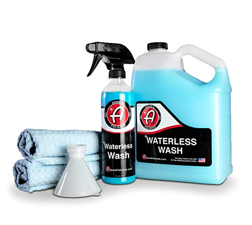 Adam's Waterless Car Wash Kit - Car Cleaning Supplies for Car Detailing | Safe...