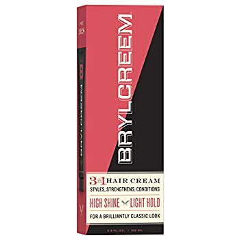 Brylcreem 3 in 1 Shining Styling and Conditioning Hair Cream for Men Alcohol-Free 5.5 Ounce