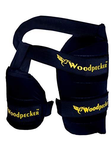 Woodpecker Right Hand Thigh Guard for Cricket,Thigh pad (Black, Medium)