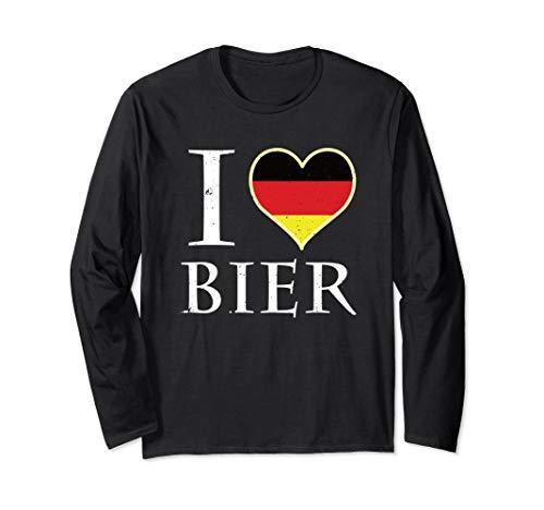 l Love Beer Bier Oktoberfest Deutsches Bier Langarmshirt