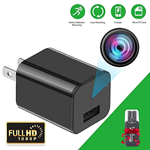 Mini Spy Camera - HD 1080P Hidden Camera USB Wall Charger Hidden Camera - Premium Pack – Best Spy Camera Charger Wireless Video Recorder Home Security System - Motion Detector Nanny Camera