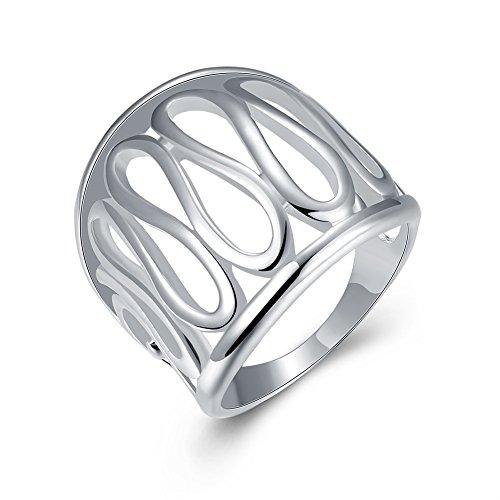 WANGJIA grote duim holle ring 925 sterling zilveren ringen voor vrouwen mannen sieraden sieraden