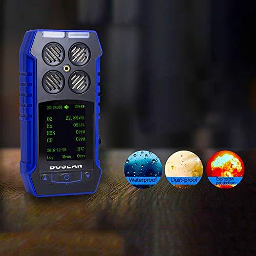 Air Quality Monitor,BH-4S Smart Sensor Vier Alarmmodi (Ton, Licht, Vibration, Anzeige) Hohe Präzision, Reale Daten, Starke Stabilität