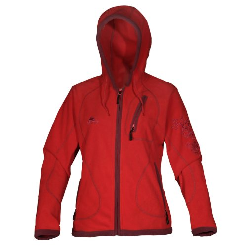Cox Swain Damen Fleece Outdoor Jacke Alice - 3 Farben - mit Kaputze, Colour: Red, Size: M