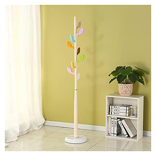Hojas de soporte de soporte Historieta de madera Sombrero de madera Piedra gratis árbol de capa con 8 ganchos Cute Modern Coat Rack para la entrada del pasillo de la habitación ( Color : White-1 )