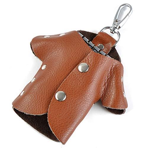 XIZHOUCUN Nuevo Bolso de Llavero Femenino Creativo Versión Coreana Versión Ropa Estilo Femenino Cowhid Genuine Cowhid Bag Durable Wild Cadena Bolsa de Almacenamiento Llavero