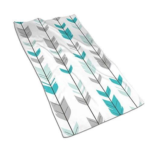 N/A Arrow Feathers Mint, verde azulado, gris suave toallas