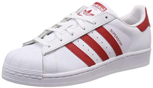 adidas Superstar J, Zapatillas de Gimnasia Unisex Niños, Blanco (FTWR White/Scarlet/Scarlet FTWR White/Scarlet/Scarlet), 39 1/3 EU