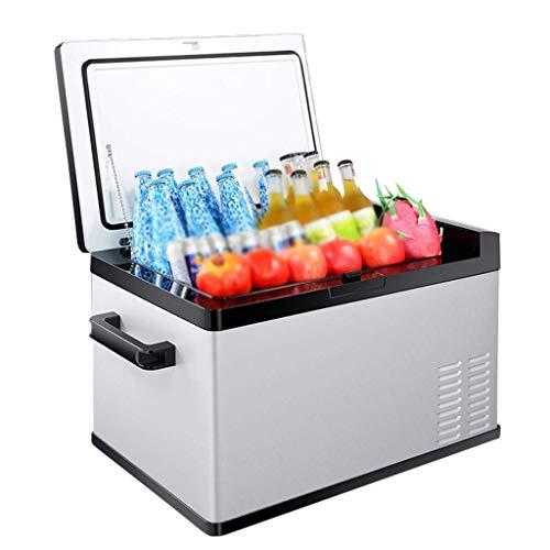 MQJ Refrigerador de Compresor Portátil, Mini Refrigerador de Autos Caja de Fresco Caja Eléctrica Portátil, 12V / 24V,30L
