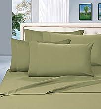 Elegant Comfort Juego de sábanas de Calidad egipcia de 1500 Hilos, 4 Piezas, con Bolsillos Profundos, tamaño King, Color Verde