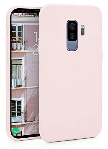MyGadget Cover TPU per Samsung Galaxy S9 Plus - Custodia Matt Ultra Sottile e Leggera – Case Protettiva Resistente Antiurto e AntiGraffio - Rosa Cipria