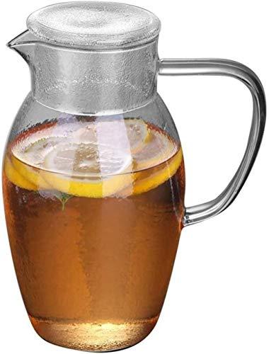Tetera Tetera Taza 1500 ml Jarro de cristal de hielo vaso de agua fácil de limpiar fácil de verter muy adecuado for Jugo Vino Leche La leche fría Agua Caliente regalo del café for la familia