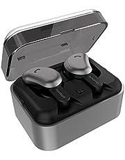 完全ワイヤレスイヤホン、AMORNO Bluetooth ヘッドフォン ノイズキャンセリング処理 ミニ両耳分離式イヤホン ステレオ スポーツイヤホン 充電ケース付き 運動に最適 …