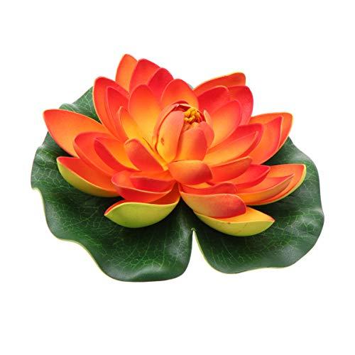 Yardwe künstliche schwimmende Teichblume realistische Pool Seerose gefälschte Blume Lotus Dekoration