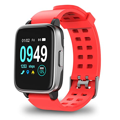 Updated Version Smart Watch for Android IOS Phone, Activity Fitness Trackers Health Exercise Watches with Heart Rate, Sleep Monitor and Calorie Compatible with Samsung Apple Iphone for Men Women