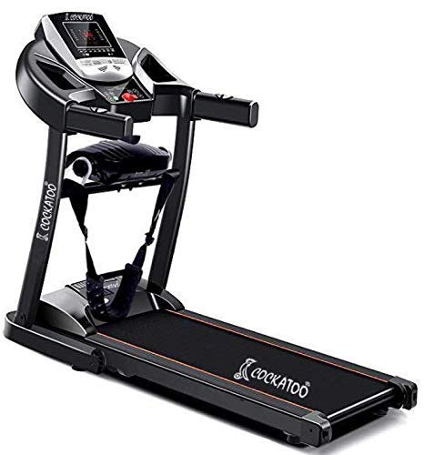 Cockatoo CTM-04 Steel 2 HP Peak Motorised Multi-Function Treadmill With Massager (Free Installation Assistance)