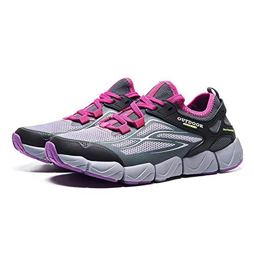 Aerlan Trainer Wanderschuhe,Zapatillas Deportivas Zapatos para Correr,Zapatos para Caminar al Aire Libre Transpirables,Zapatos para Correr,Zapatos para Caminar Deportivos Antideslizantes-Purple_38#