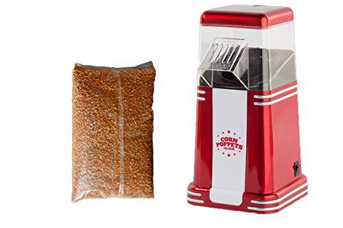 Popcorn-Automat Popcornmaschine Corny Poppets 1200 W + 3 Becher + Popcornmais für 16 Liter Popcorn