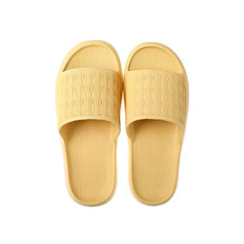B/H GimnasioCómodoFlipFlops,Zapatosdebañoparaducha,sandaliasdecasaparaparejas-Yellow_39-40,SuaveZapatosBañoFlipFlops