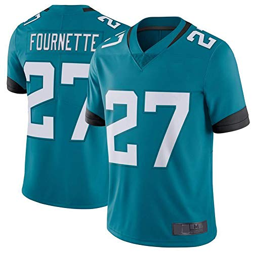 Huuh 27 # Fournette Jaguar Rugby T-Shirt für Herren, American Football Jersey, bestes Geschenk für Polo, Athleten, Training, Spiel, Performance, Club, belüftet, bequem, kurzärmelig Gr. 56, Bluelake