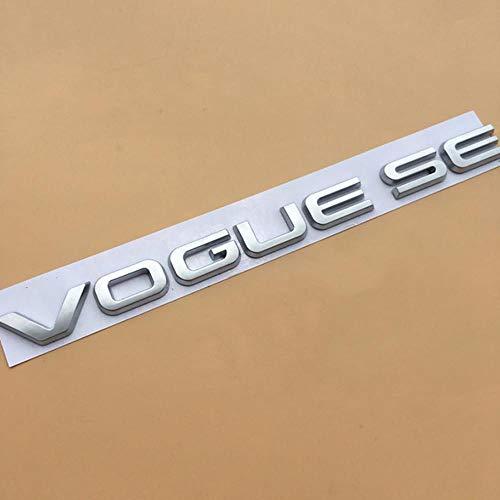 SYSFOUR L SCV6 SDV8 Bar Emblema Letra Logotipo para Range Rover Vogue VOGUESE Ejecutivo Edición extendida Car Styling Side Trunk Badge Sticker, Plata Mate Original