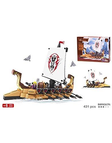 Hogar y Más - Juego de construcción Barco Vikingos Divertido Travel Sea
