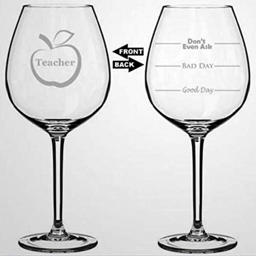 Vraag zelfs niet aan leraar wijnglas hand geblazen bedrukte wijnglazen voor huisopwarming perfect voor huwelijksfeest verjaardag verjaardag 17 oz